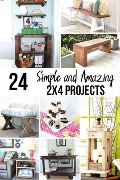 24 Simple and Amazing 24 Wood Projects Wow! These projects are so easy to build! Easy DIY 24 furniture projects and 24 scrap wood project ideas. Check them out now! The post 24 Simple and Amazing 24 Wood Projects appeared first on Wood Ideas. 2x4 Furniture, Diy Furniture Projects, Woodworking Furniture, Home Projects, Furniture Market, Homemade Furniture, Cheap Furniture, Office Furniture, 2x4 Wood Projects