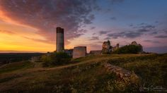 Olsztyn Castle castle ruins located in the Kraków-Czstochowa Upland, lying on the Trail of the Eagles' Nests formerly protecting the southern border of the Kingdom of Poland Castle Ruins, Krakow, Photos Of The Week, Landscape Photography, Travel Photography, Seattle Skyline, Monument Valley, Trail, Sunset