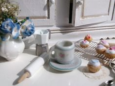Shabby Cottage Dollhouse Coffee Mug and by Twelvetimesmoreteeny, €2.80