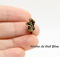 Mouse Charm, Alice in Wonderland Mouse Charm by AtelierdeCielBleu