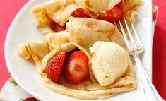Finis Feinstes - Rezepte - Fini´s Rezepte - Eispalatschinken mit Erdbeeren