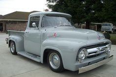 1956 Ford Truck, Old Ford Trucks, Old Pickup Trucks, Classic Ford Trucks, Classic Cars, 1956 Ford F100, Old Fords, Ford Bronco, Vintage Trucks