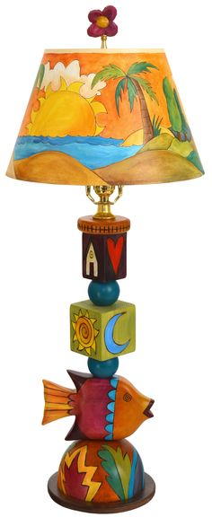 Mexican cottage motif hand painted lampshade t m cowboy classics custom sculpture lamp mozeypictures Gallery
