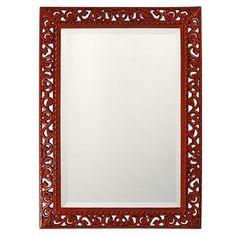 Howard Elliott Rectangle Bristol Glossy Red Mirror