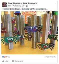 Nursery Rhyme Crafts, Nursery Rhymes Preschool, Nursery Rhyme Theme, Rhyming Preschool, Rhyming Activities, Preschool Art, Spider Art Preschool, October Preschool Crafts, Spider Crafts