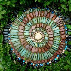 mosaic garden stepping stones - Google Search