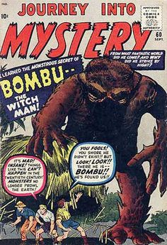 Journey Into Mystery # 60 by Jack Kirby & Steve Ditko Comic Book Artists, Comic Book Heroes, Comic Books, Comic Art, Sci Fi Comics, Horror Comics, Thor, Creepy Monster, Scary Monsters
