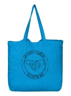roxy, Need It Now Printed Linen Beach Tote, Blue Aster (bnk0)