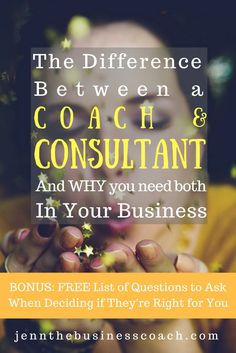 Do you understand the difference between a business coach and consultant? If not, this is an amazing article for gaining insight!