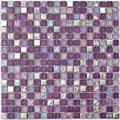 UK Tiles Direct are Dorset's premier retailer of ceramic, stone & glass mosaic tiles with a large showroom in Wareham Dorset Grey Bathroom Tiles, Purple Bathrooms, Glass Mosaic Tiles, Mosaic Wall, Tiles Direct, Purple Kitchen, Glass Floor, All Things Purple, Wall Collage