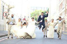 That wedding shot. #wedding #jump #bridalparty #theburnswedding #happiness #excitement #happydays #navysuit