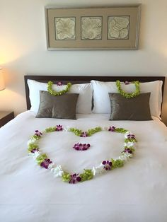 A romantic tropical turn down service using fresh orchid blossoms at Trump International Hotel Waikiki