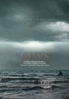 Jaws Film, Jaws Movie Poster, Animated Movie Posters, Shark Art, Alternative Movie Posters, Great White Shark, Movies Showing, Horror Movies, Science Fiction