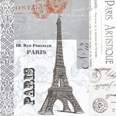 Eiffel Tower Paper Luncheon Napkins