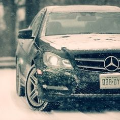 Staying safe in the snow.  #MBPhotoCredit @cavasottiphoto  #Mercedes #Benz #CClass #C350 #coupe #4MATIC #carsofinstagram #germancars #luxury #winter #snow #Blizzardof2015 #Blizzard2015 #Snowmageddon2015 #Juno