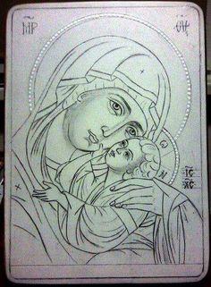 Catholic Crafts, Catholic Art, Byzantine Icons, Byzantine Art, Religious Icons, Religious Art, Writing Icon, Bibel Journal, Paint Icon
