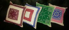 Almofada Coloridas ( Capa) Croche  WhatsApp  061 9 9918 0837