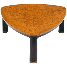 Edward Wormley for Dunbar Burl Elm Coffee Table | From a unique collection of antique and modern coffee and cocktail tables at https://www.1stdibs.com/furniture/tables/coffee-tables-cocktail-tables/