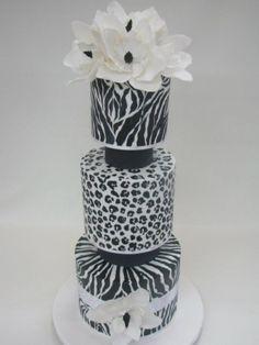 animal prints black and white
