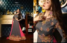 9dcab62d9e8 Fiona Zara Series Malaika Arora Embroidered Party Wear Celebrity Fashion  Georgette Collection Wedding Bridal Long Anarkali Dress in Best Wholesale  Price ...
