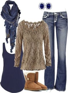 Lace again and color combo winter outfits, casual outfits, cute outfits, winter clothes Komplette Outfits, Winter Outfits, Casual Outfits, Fashion Outfits, Fashion Trends, Winter Clothes, Dress Winter, Fashion Boots, Fasion