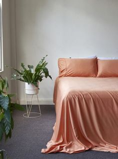 Home + Bedroom Decor // ideas // Bamboo Charcoal Flat Sheet - Apricot Home Decor Bedroom, Master Bedroom, Bedroom Interiors, Bedroom Ideas, Flat Sheets, Bed Sheets, Room Colors, Duvet Covers, Bamboo