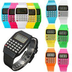 Fashion Child Kid Silicone Date Multi-Purpose Electronic Wrist Calculator Watch #Unbrand #Fashion