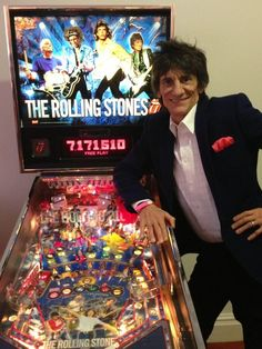 The Rolling Stones Pinball Game and Ron Wood Modeling it, Lady T.