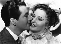 """Robert Taylor and Barbara Stanwyck in """"This is My Affair"""" (1937)"""