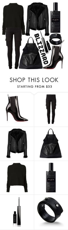 """Blizzard"" by ginshelyn ❤ liked on Polyvore featuring DRKSHDW, Thomas Wylde, TSATSAS, Victoria Beckham, Alaïa, Givenchy and Rick Owens"