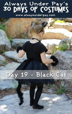 Day 19 - Black Cat DIY Halloween Costume Tutorial | Always Under Pay's 30 Days of Costumes