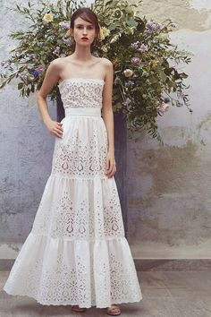 Luisa Beccaria Resort 2018 Fashion Show Collection: See the complete Luisa Beccaria Resort 2018 collection. Look 7 Fashion 2018, Look Fashion, Runway Fashion, Fashion Dresses, Fashion Design, White Dress Summer, Summer Dresses, Beautiful Dresses, Nice Dresses