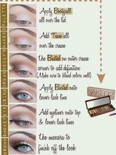 naked 2 pallet- step by step eyeshadow application