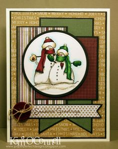 "Paper Perfect Designs by Kim O'Connell: There She Goes Clear Stamps ""Seasons Greetings"""