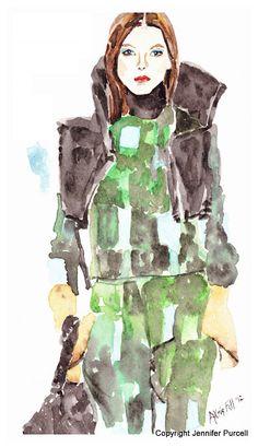 Akris Fashion Illustration