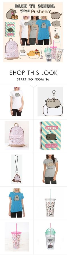"""#PVxPusheen"" by itsindiependence ❤ liked on Polyvore featuring Pusheen, Gund, contestentry and PVxPusheen"