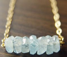 Aquamarine Necklace  This March baby would love to have this!