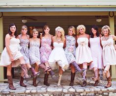 I absolutely love this, the dress and boots is pretty much what I picture for my wedding (: