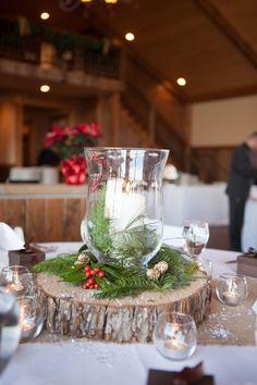 Winter Wedding Centerpiece