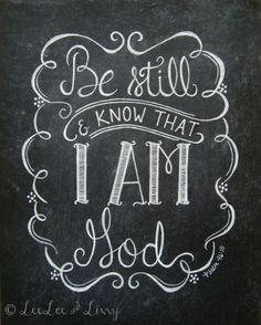 simply-divine-creation: simply-divine-creation: Psalm 46:10 Be still & know that I Am God