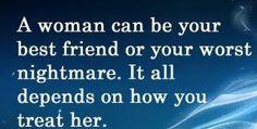 A woman.