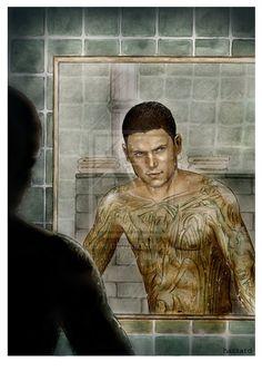 Michael Scofield- Prison Break by on DeviantArt Michael Scofield, Michael And Sara, Drama, Wentworth Miller, Prison Break, Fight Club, Cool Artwork, Tv, Statue