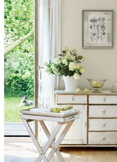 Love the distressed finish between the drawers on the dresser front