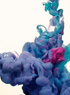 A due colori - high speed photography of ink in water by Alberto Seveso