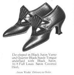 """""""Flame Tongue Pumps"""" - 1922 - Boot and Shoe Recorder: The Magazine of Fashion Footwear, Volume 82"""