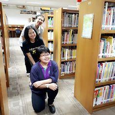 """Three of us..."" #librarian #library #libraryfun #myboss #librarystyle #perpustakaan #pustaka #pustakawan #pustakawansekolah #bookstagram #book #bookshelf #read #reading #iloveit #hobbies #happy #hapiness #friendship #family#lovely"