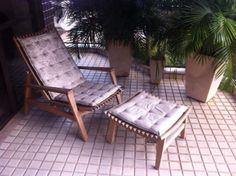 Cadeira espreguiçadeira de madeira R$