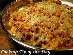 Cooking Tip of the Day: Sloppy Joe & Mac Skillet
