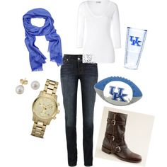 I love everything except the shoes... I need a scarf that color! I already have the cup :)