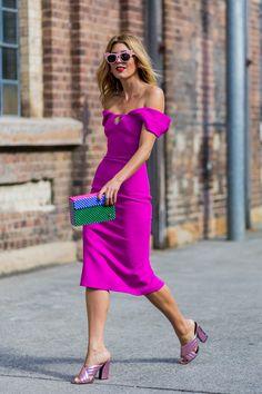 Pretty in Pink: Tanja Gacic trägt ein Kleid des australischen Labels Yeojin Bae
